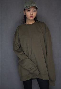 Oversized Olive Green Jumper