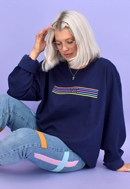 G&G Unisex Navy Original Lino Sweat