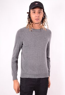 Trussardi Mens Vintage Jumper Sweater Small Grey 90s