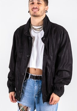 Vintage 80s Leather Jacket / S7190