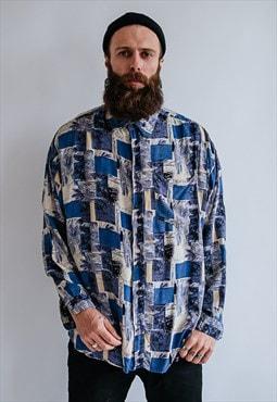 Vintage 80s funky long sleeve shirt