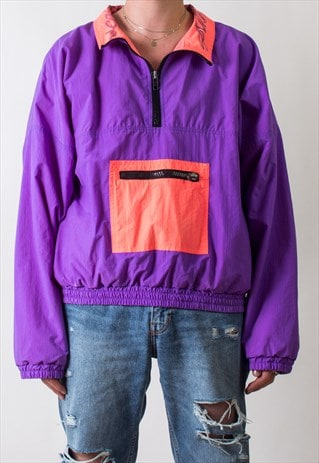 NEON 90'S WINDBREAKER JACKET