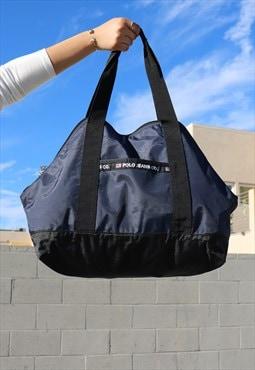 90's Vintage Polo Ralph Lauren Nylon Large Bag