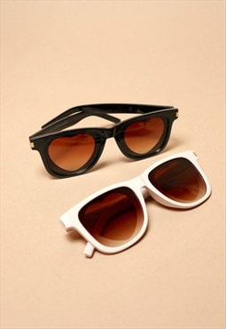 Farrah : heart eye ombre wayfairer retro sunglasses brown
