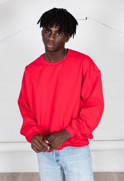 Cosmic Saint Mens Cherry Red Sweatshirt
