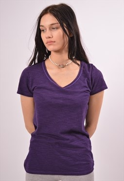 Vintage Champion T-Shirt Top Purple