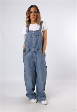 LEE Denim Dungarees TALL LENGTH  Wide Leg UK 16 (KP3H)