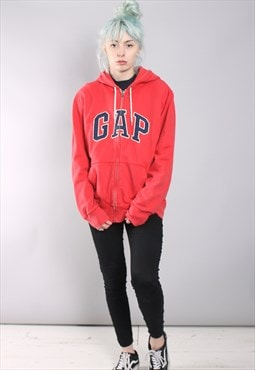 Vintage Gap Zip Up Hoodie Red