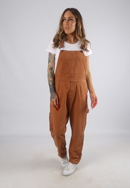Vintage Canvas Cotton Dungarees Straight Leg UK 14  (H2Y)