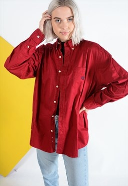 Vintage Chaps oversized shirt in maroon