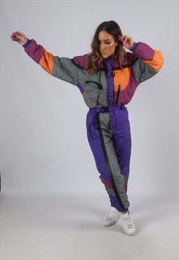 Vintage Full Ski Suit Snow Sports UK S 10   (K2D)