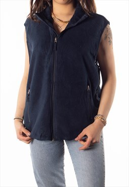 Vintage Blue GAP Full Zip Gilet Fleece