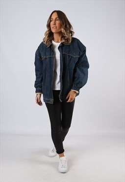 Denim Jacket Sherpa Lined Oversized Fitted UK 16  (BJCA)