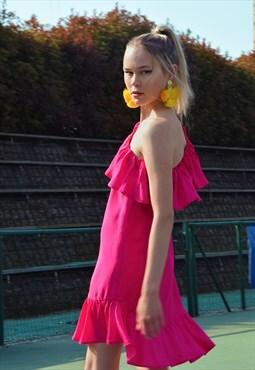 Summer Escape Dress in Fuchsia Pink