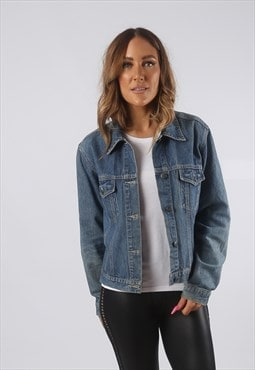 Vintage Denim Jacket Oversized Fitted UK 12 - 14  (HDO)