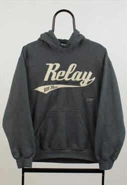 Vintage Grey Relay Hoodie