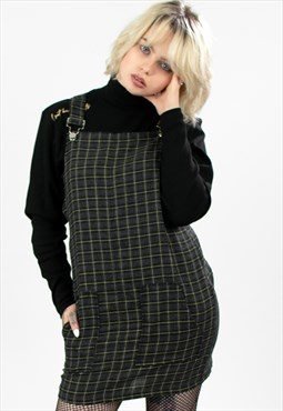 'Brody' Check Woven Plaid Pinafore Dress