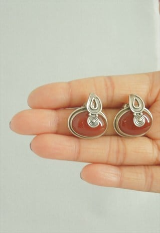 SIVER ANTIQUE LOOK EARRINGS