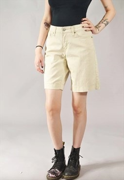 Vintage Levi's Denim Shorts Cream