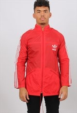 Vintage Adidas Medium Red Windbreaker Festival Jacket