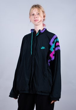 Early 80's Nike Black Embroidered Track Jacket - B1309