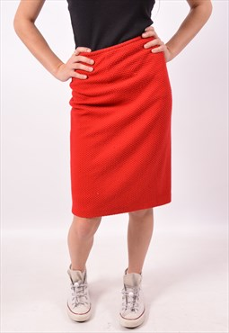 Vintage Calvin Klein Skirt Red