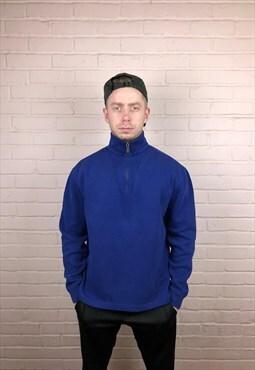 Vintage Ralph Lauren Quarter Zip Sweatshirt in Olive Blue