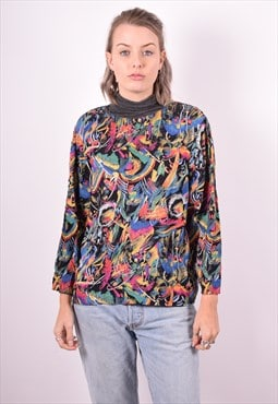 Cacharel Womens Vintage Top Blouse Medium Multi 90's