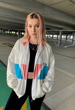 Vintage 80's Shell Colourful Windbreaker Jacket