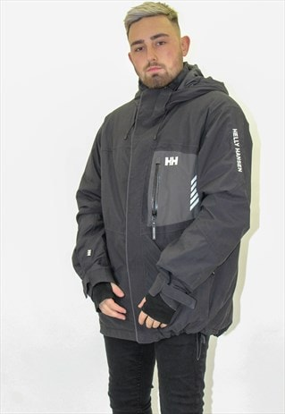 VINTAGE HELLY HANSEN COAT IN BLACK XL