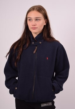 Vintage Polo Ralph Lauren Fleece Jacket Navy Blue