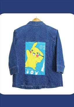 Vintage Reworked Pokemon 'Pikachu' Denim Jacket