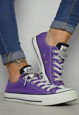 90s Converse Purple with Black & Grey Double Tongue Ox Shoes