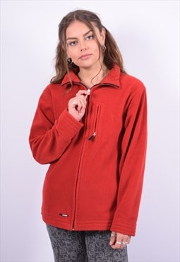 Vintage K-Way Fleece Jacket Red