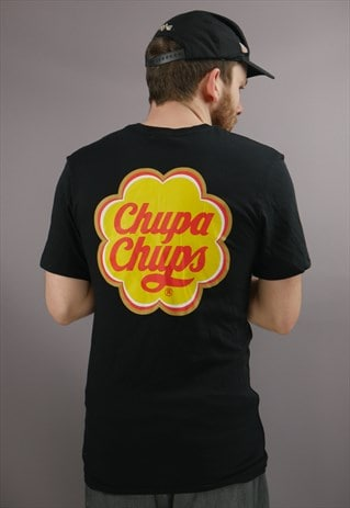 Vintage Chupa Chups Lollipop Graphic T-Shirt in Black