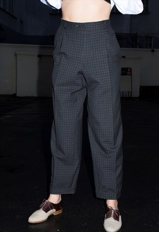 VINTAGE 90S TEDDY BOY PLAID PANTS