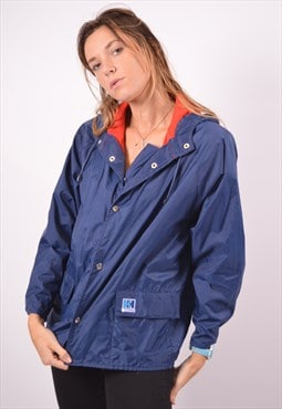 Vintage Helly Hansen Waterproof Jacket Navy Blue