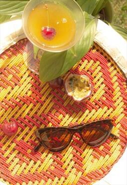 Deep Mini Cat Eye Sunglasses Tortoise Shell