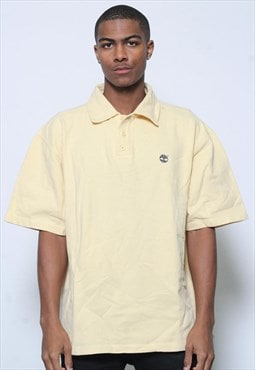 Vintage Timberland Polo Shirt Yellow