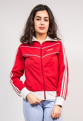 90'S VINTAGE RED ADIDAS TRACKSUIT JACKET TOP