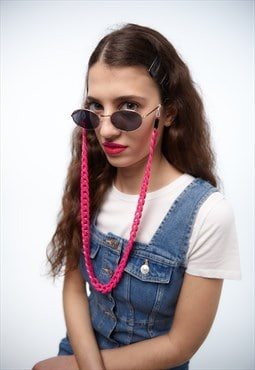 """Andy"" Hot Pink Sunglasses Chain"
