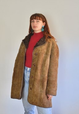 Vintage 70s Shearling Coat