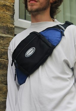 Retro / 90's / Blue & Black Bum Bag