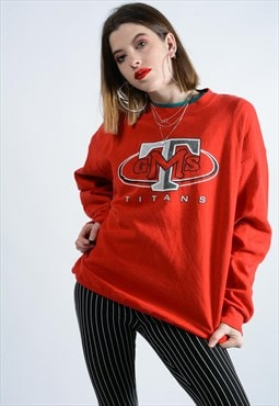 Vintage Sweatshirt In red with graphic print