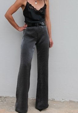 Lurex grey/silver shiny pants