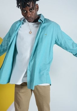 LACOSTE shirt turquoise with logo.