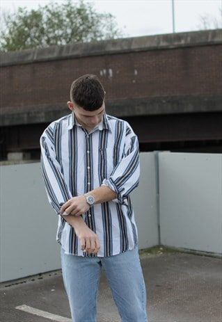 VINTAGE STRIPED CHAPS RALPH LAUREN SHIRT
