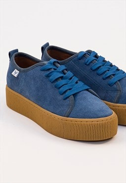 Walk In Pitas Blue Suede Skate Shoes