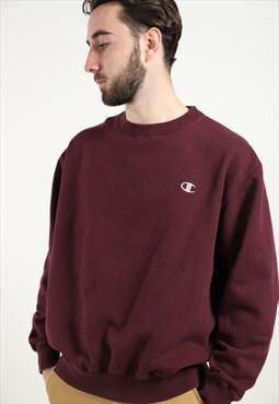 Vintage CHAMPION Small Logo Sweatshirt Burgundy