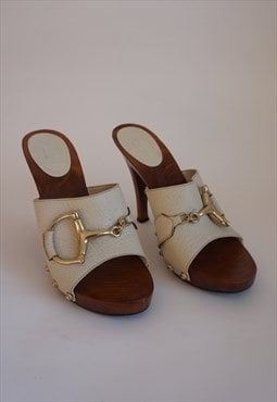 Y2k Gucci High Heel Sandals - Vintage Gucci Clogs Mules